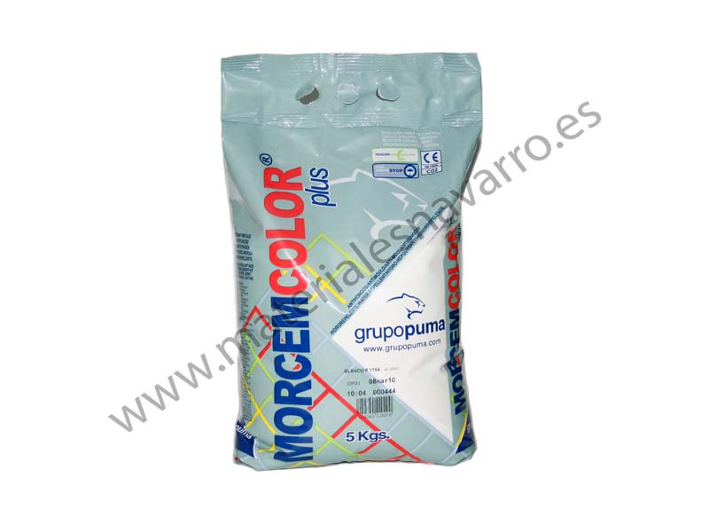 +MORCEM COLOR PLUS GRIS MACAEL 5 KG