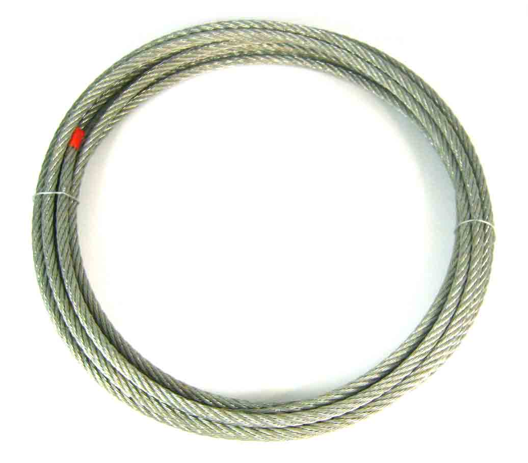 R/ CABLE ACERO 6X7+1 6MM 5MTS GALVANIZAD